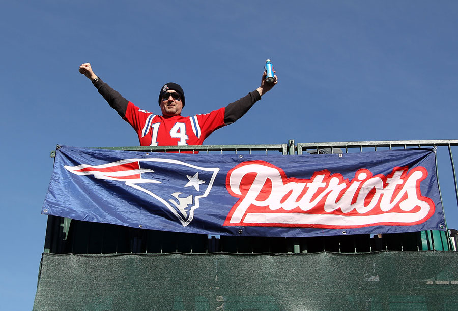This New England Patriots fan started tailgating a day early.