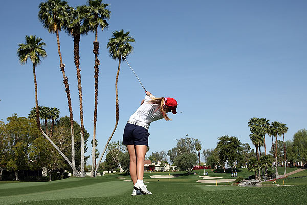 Paula Creamer made no bogeys in her 2-under 70.