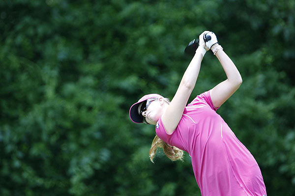 Paula Creamer ended up at three under for the weekend after shooting 70 on Sunday.