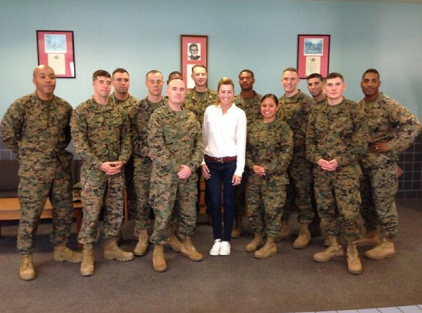 @ThePCreamer With the Marines today at Camp Pendleton!