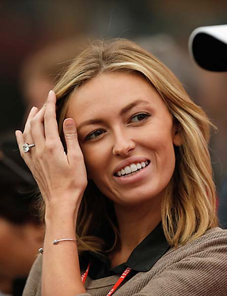 Paulina Gretzky attends most of Dustin Johnson's tournaments and she didn't miss HSBC Champions, the biggest win of her finace's career.