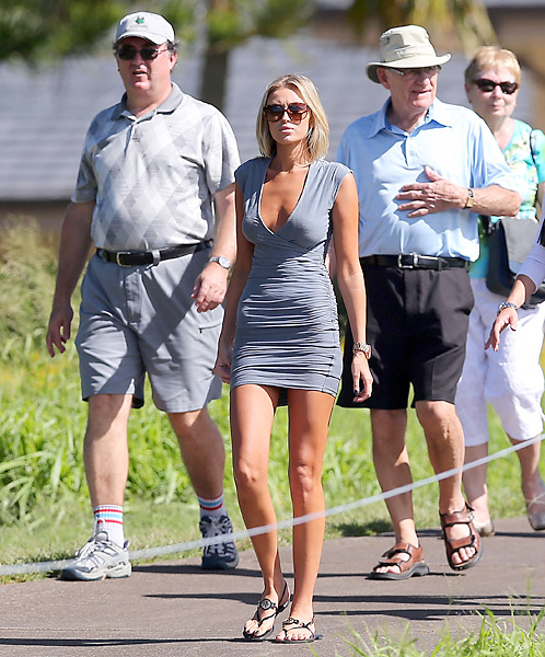 Gretzky was spotted following Johnson during the season-opening Hyundai Tournament of Champions at Kapalua.