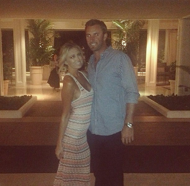 She posted this photo of herself with Johnson on the night of her mother's birthday dinner in Hawaii. Dustin Johnson ended up winning the tournament.