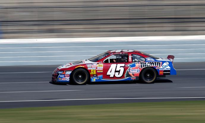 Corey Pavin also took a few laps around the track in Concord.