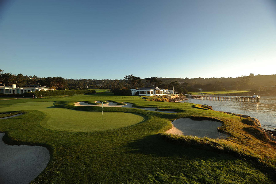 Pebble Beach Golf Links -- No. 17, 177 yards -- Pebble Beach, Calif.                       From Nicklaus's one-iron at the 1972 U.S. Open to Watson's chip-in a decade later in the same event, no par 3 in the game has served up more iconic moments. You're playing toward an ocean-framed hourglass target, and you're walking in the footsteps of major championship history.