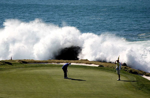 The Lodge at Pebble Beach Ultimate Stay and Play PackageTreat dad to the ultimate experience at one of golf's greatest destinations. This package includes three nights at the Lodge at Pebble Beach, plus a round at Pebble Beach, The Links at Spanish Bay, and Spyglass Hill.                           $3,355-$4,400 on pebblebeach.com