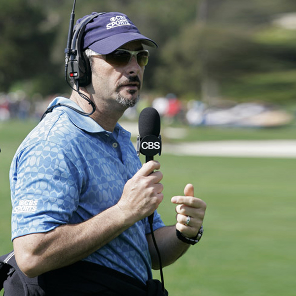 David Feherty on the final day of competition at Pebble Beach.