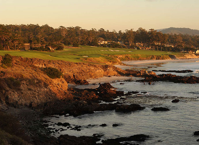 "4. Pebble Beach Golf Links -- No. 10, 446-yard Par-4                                                      Stroke Average: 4.463                            Bob Hope once called Pebble Beach, ""Alcatraz with grass."" There's certainly no escape at Pebble's 446-yard, par-4 10th, which tilts left-to-right, forcing approaches from sidehill lies, to a small green with the Pacific Ocean edging its right side. Shanks for the memories!"