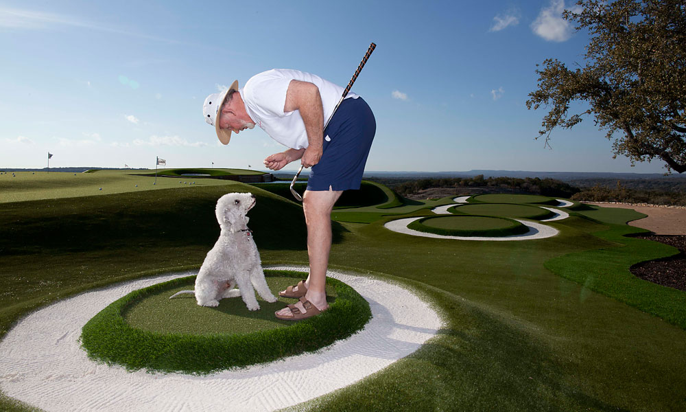 Pelz and his loyal practice partner, his Bedlington terrier, PEDO. Related Article