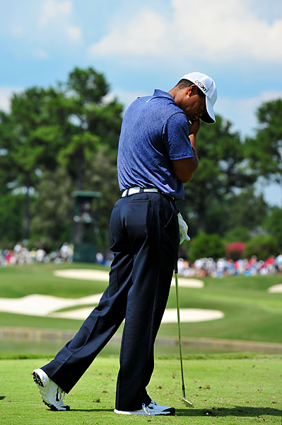 "2011 PGA Championship: Woods missed the cut at the PGA Championship at the Atlanta Athletic Club, one of only four missed cuts at a major championship and his first in 14 appearances at the PGA. ""Yeah,"" Woods said after his round, ""I've got some time off again."""