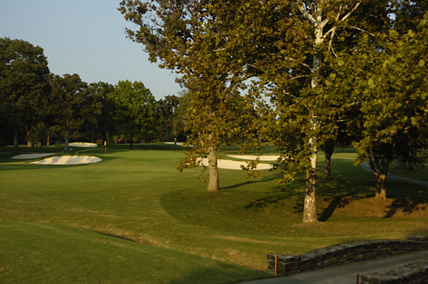 No. 3                        451 Yards, Par 4                       For big hitters, this dogleg left sets up well for a long fade to the right portion of the fairway, which is the ideal spot for attacking the green. Players will aim for pin positions on the right half of the green, but if the hole is cut on the left, the wise play will be to the middle of the green instead of challenging the large bunker that is short and left.
