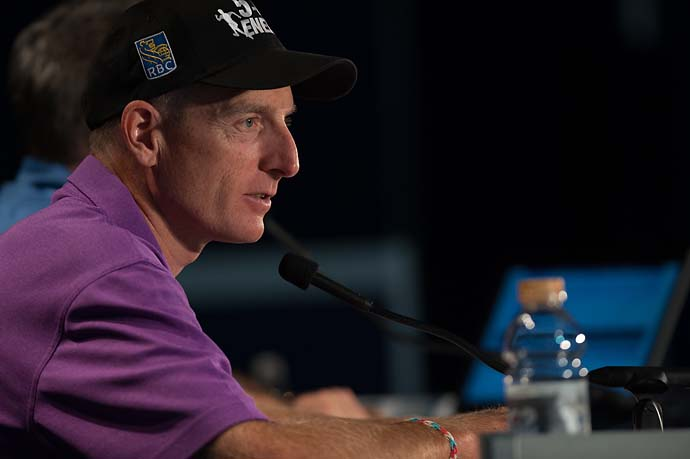 """In order to make it at this level or be successful for 20 years on the PGA TOUR, you'd better believe in yourself, because there's going to be some times where, you know, you feel lonely and you feel like you're the only one out there.""                           --Jim Furyk on how to be successful on the PGA Tour."