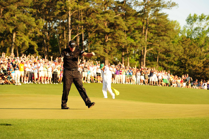 Mickelson became the eighth player to win three green jackets.