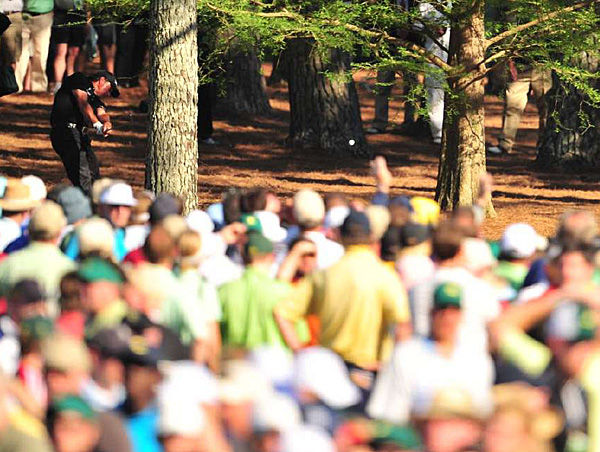 """Mickelson hit a shot for the ages off the pine needles at No. 13. """"I had to hit a shot between those two trees, whether I laid up or went for the green, and I just decided to hit it 90 yards farther than a layup,"""" he said afterward."""