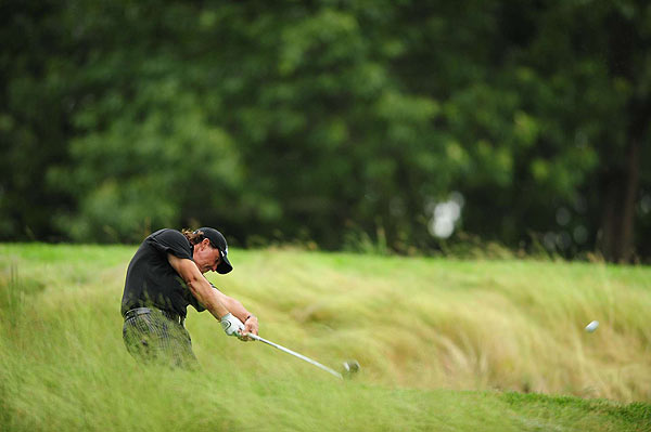 Mickelson finished the third round six strokes off the lead.
