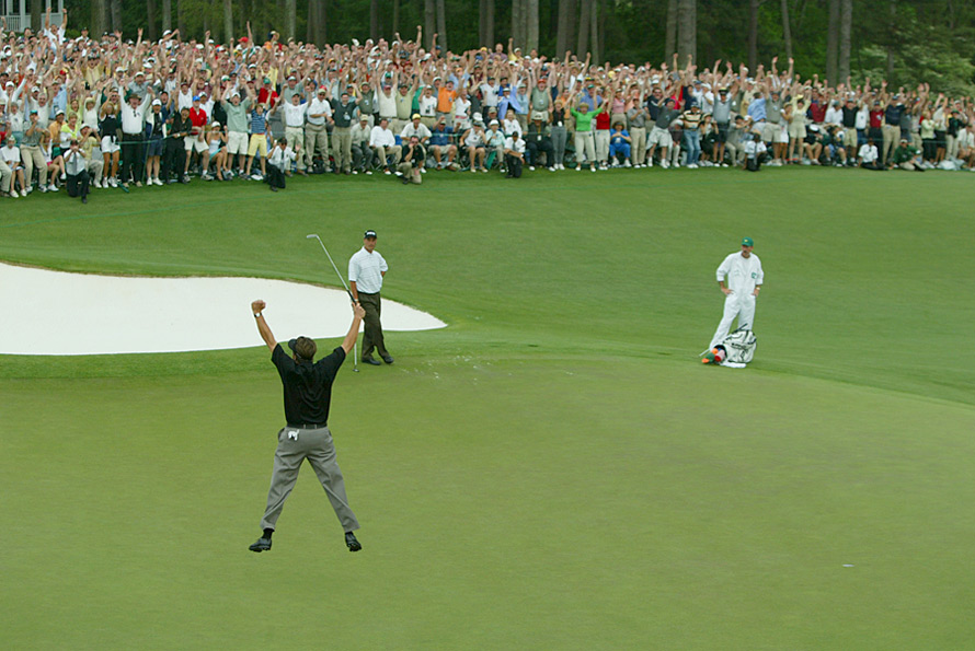 After more than 20 PGA Tour wins, Mickelson finally won his first major championship at the 2004 Masters when he drained a downhill 18-footer on the 72nd hole at Augusta National.