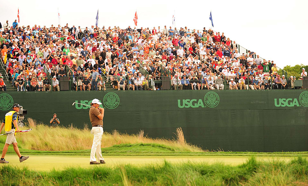 ... he made bogeys on 15 and 17 to fall short once again at the U.S. Open.