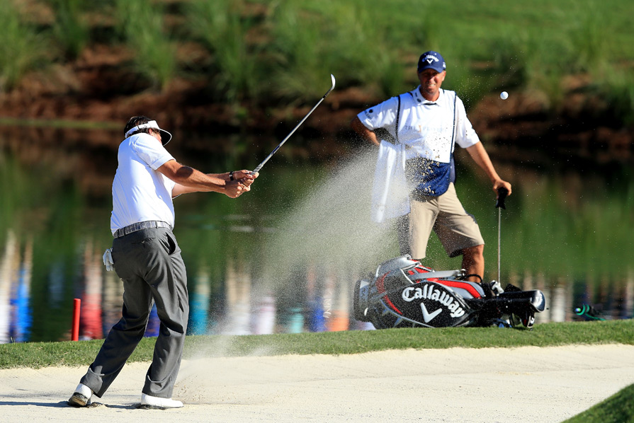 Mickelson finished at two under par.