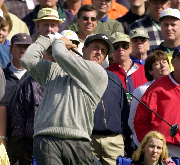 Mickelson tied for seventh at the 2000 Masters.
