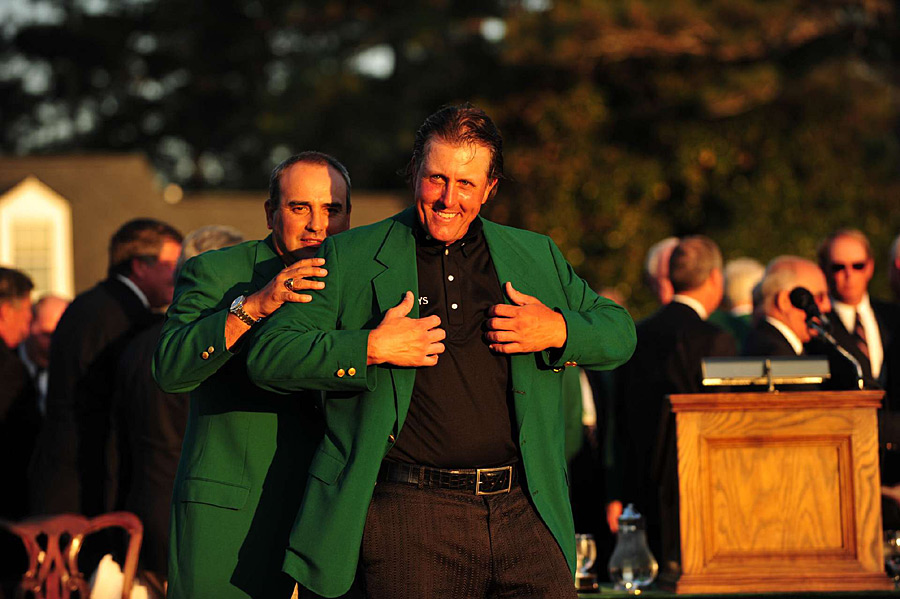 He shot a final-round 67 to beat Lee Westwood by three shots and secure a third green jacket.