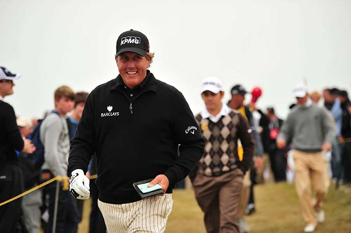 Before he won the 2013 British Open, Mickelson's best finish at the event was a T2 at the 2011 British Open at Royal St. Georges.