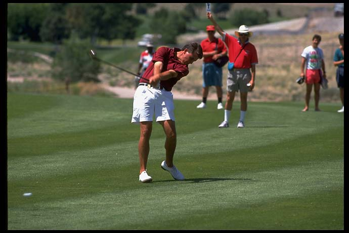 Phil Mickelson at the 1992 NCAA golf finals. Mickelson won the individual national championship three times at Arizona State (1990, '91 amd '93).