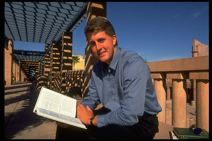 Big man on campus. Phil Mickelson at Arizona State in March 1991.