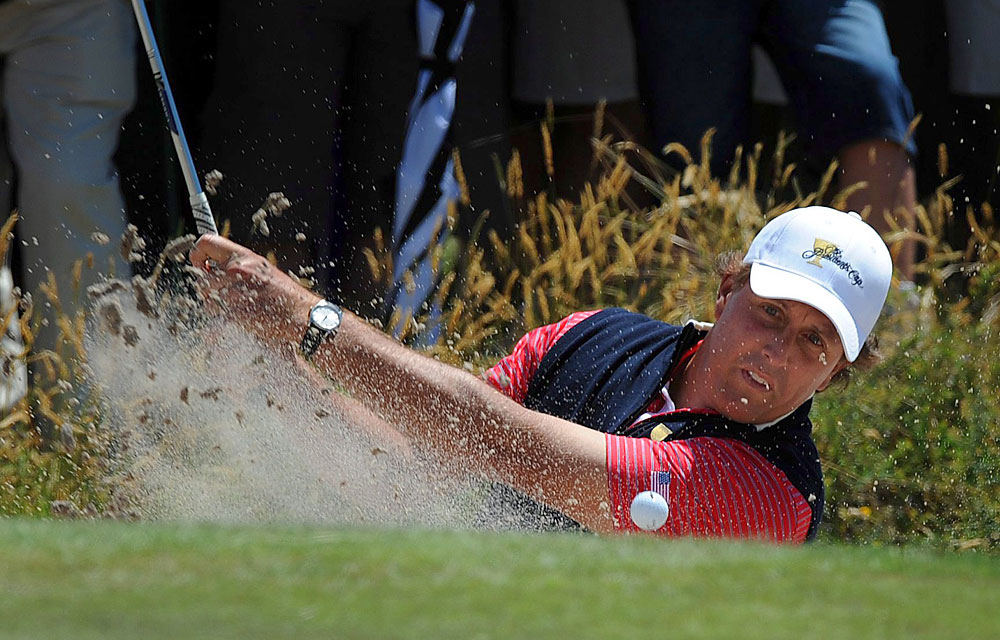 """I'm thankful that no matter how frustrating and time-consuming and expensive the game of golf can be at times, it always gives back much more than you put into it."" -- Mike Walker, Golf Magazine senior editor                       [Pictured: Phil Mickelson, like all golfers, has known both heartbreak and joy on the course.]"