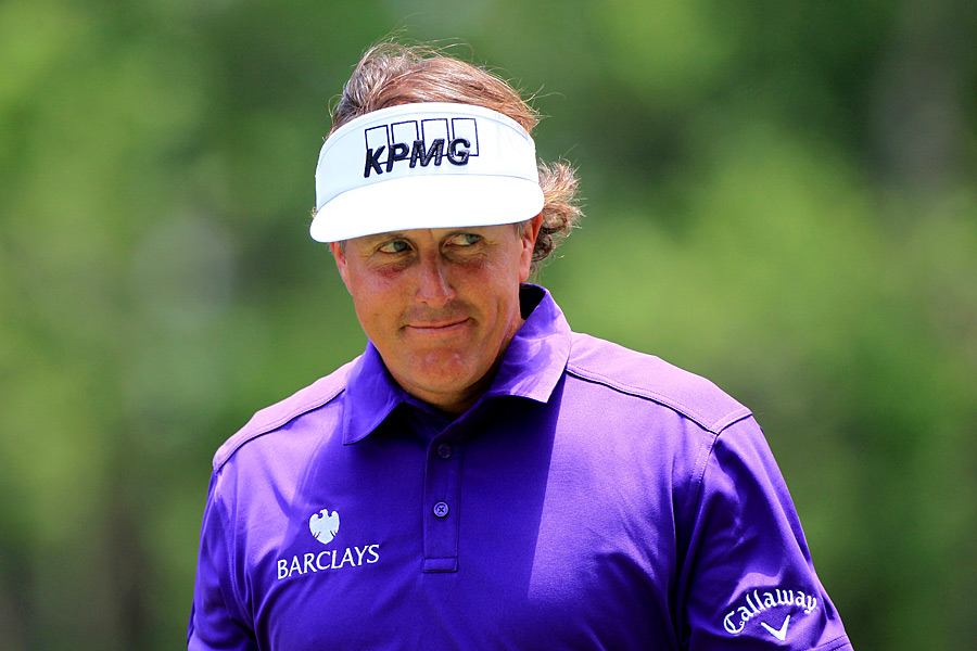 Phil Mickelson finished at four under, giving himself an outside chance of winning on Sunday.