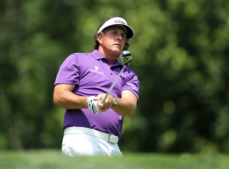 Phil Mickelson shot a 79, and then he withdrew after his round due to fatigue.
