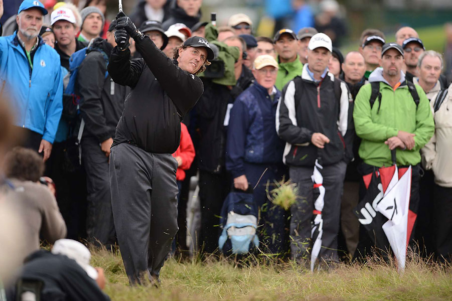 Phil Mickelson opened with a three-over 73.