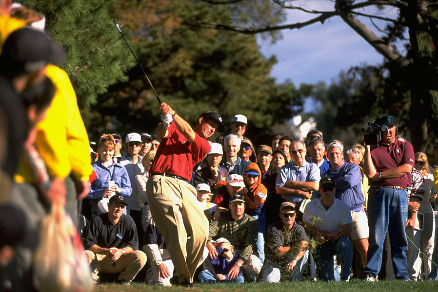 Mickelson beat both Tiger Woods and Mark O'Meara by one stroke to win the 1998 Mercedes Championships at La Costa. He also won the tournament in 1994.
