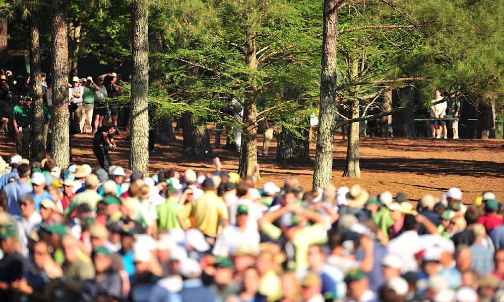 At the 2010 Masters, Mickelson's second shot from the pine straw on the par-5 13th hole paved the way to another victory.