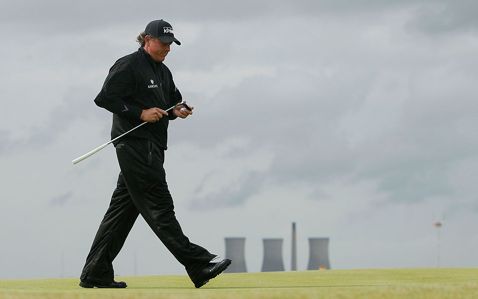 Phil Mickelson: 2011 British Open                           Mickelson started the final round with five birdies in his first seven holes to take a share of the lead with Darren Clarke. But Mickelson missed a two-foot par putt on the 11th hole at Royal St. George's, his first of four bogeys in six holes. Clarke won the tournament.