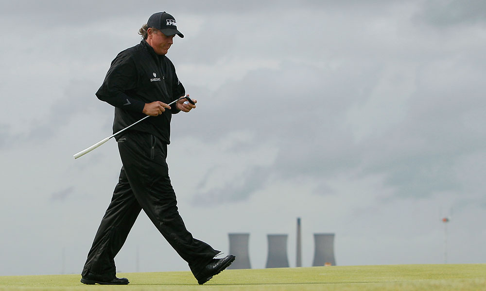 Mickelson carded a 30 on the front nine during the 2011 British Open but fell apart on the back. He finished two under par and tied for second with Dustin Johnson.