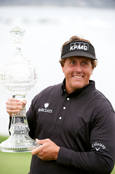 Mickelson shot a scorching 64 on Sunday to win the 2012 AT&T Pebble Beach National Pro Am.
