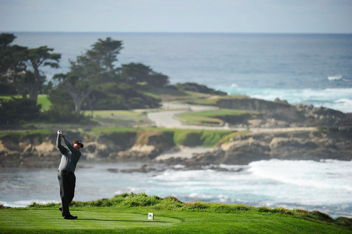 Phil Mickelson is six shots back after a 71 Friday at Spyglass.