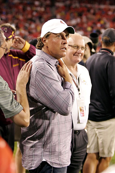 Phil Mickelson watched Arizona State lose to Georgia in 2009.