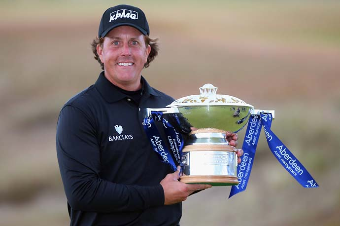 """Winning the Scottish Open was a huge factor in my success the next week at the Open Championship.""                           --Phil Mickelson on his intention to defend his Scottish Open title in 2014."