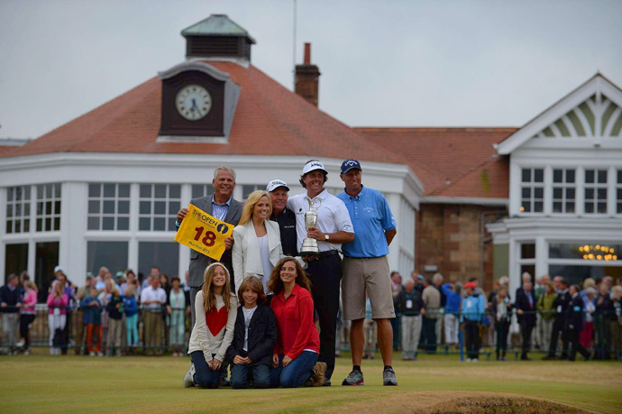 """""""It feels amazing to have this championship,"""" Mickelson said. """"And then to make it even more special, to have Amy, Amanda, Sophia, Evan here; to share this with Bones; to have Steve Loy who's been with me back from my college days all the way through; to have Butch Harmon here to share this moment, it really is special."""""""