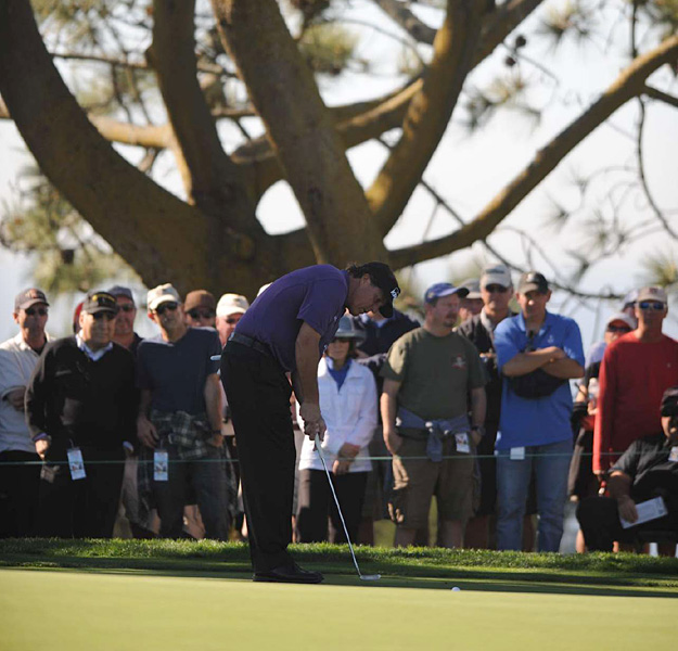 But Mickelson struggled mightily on Thursday, and it is unlikely he will make the cut. He finished at five over.