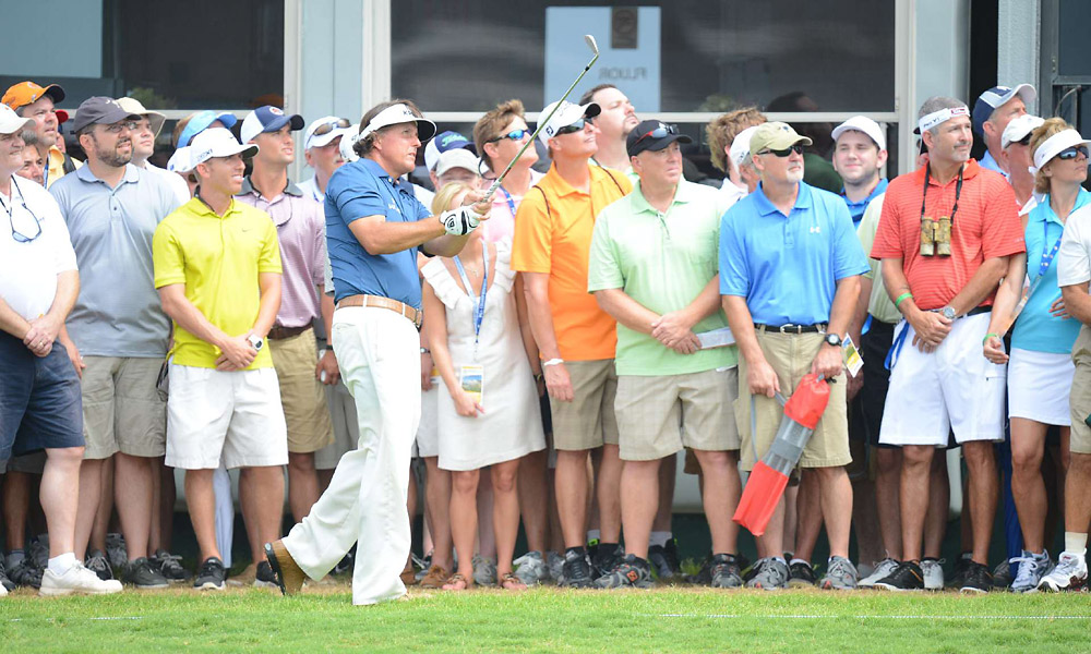 As always, a large crowd followed Phil's every move.