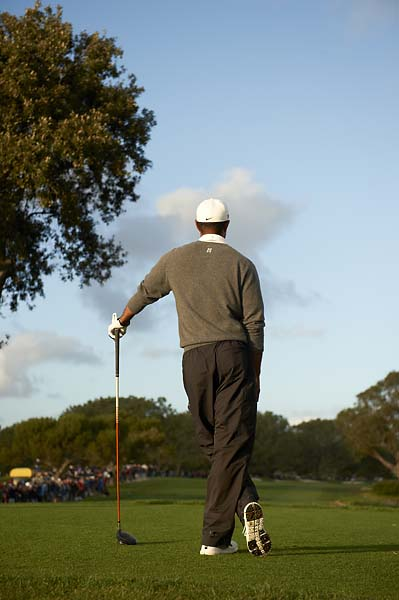 Tiger Woods during Sunday play at Torrey Pines, the scene of his first win of 2013.