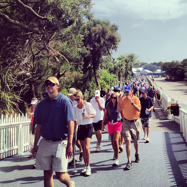 Fans made a mass exit from the Ocean Course Friday to beat the traffic.