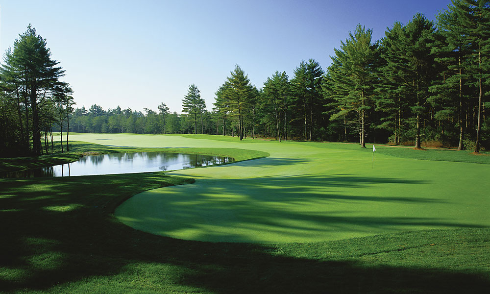 "3. Pinehills Golf Club, Plymouth, MA; 508-209-3000, pinehillsgolf.com                       If you're looking to impress buddies, clients or family members in a ""it's not how much it costs, it's what you get for your money"" framework, this 36-hole retreat 40 miles south of Boston will fit the bill. For wayward hitters, the Rees Jones course is the slightly tougher of the two, while the Jack Nicklaus II design is a bit friendlier. Guaranteed to please are the superb clubhouse and the amazing practice facility, which has no equal among public-access New England layouts."