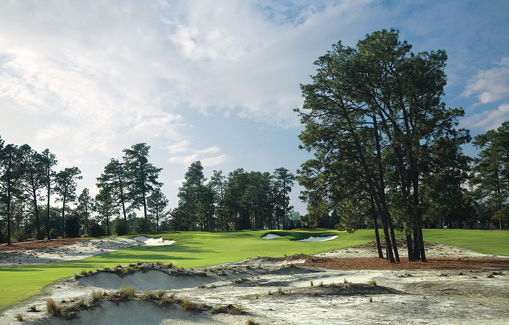 """I'm thankful for Ben Crenshaw and Bill Coore's redesign of Pinehurst No. 2. One of America's great courses has the 'wow' factor again after an extensive renovation designed to bring back the look and playability of Donald Ross's original vision. Job well done, fellas."" -- Ryan Reiterman, Golf.com senior producer [Pictured: Pinehurst No. 2]"
