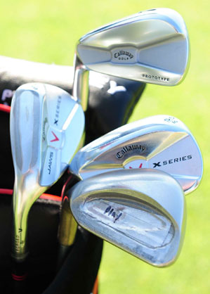 "Ping Eye2s back in spotlight                           In response to the new rule, a few PGA Tour players—including John Daly and Phil Mickelson —put square-grooved Ping Eye2 wedges in their bags. (Pre-1990 Ping Eye2s were legal under a 1990 agreement.) When Scott McCarron learned that Mickelson was using the club, he said, ""It's cheating, and I'm appalled Phil has put it in play.""                                                      When Mickelson was told about McCarron's comments, he said the rules were ""ridiculous"" and the Eye2 loophole was ""nuts,"" but he strongly defended his use of the controversial wedge. In March, Ping waived its right to stop the PGA Tour from banning the Eye2s, making them illegal and largely ending the groove controversy for the year."