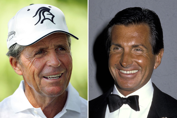 Gary Player and actor George Hamilton
