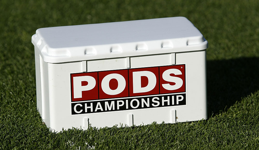 Pods also make perfect tee markers.
