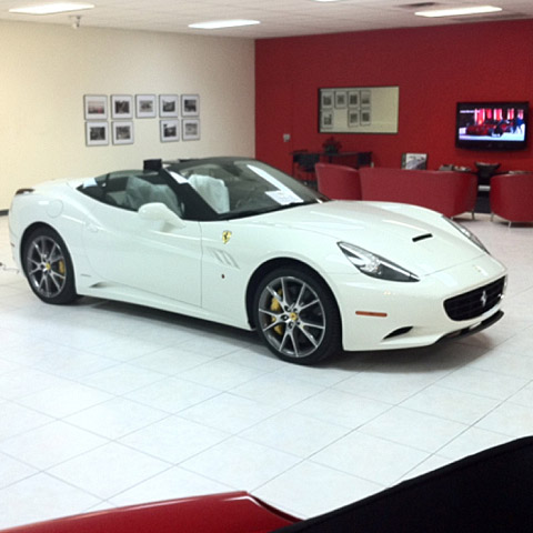 Poulter, who now lives in Orlando, recently traded in the red Ferrari for this white one.